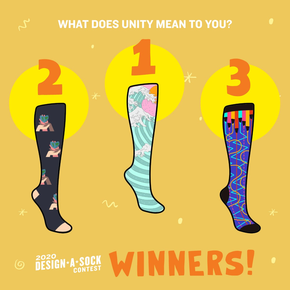 Design-a-Sock 2020 winners
